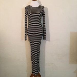 Free People B/W Cotton Maxi-Dress